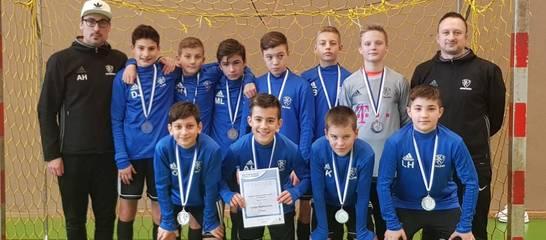 Die U13 bei der Allgäuer Hallenmeisterschaft; Foto: B. Brzozowski.
