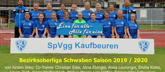 Die Landesliga-Mannschaft der Frauen in der Saison 19/20; Foto: T. Weißenbach